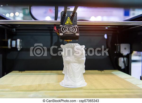dimensionnel, printer., impression, trois, machine - csp57065343