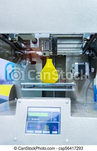 dimensionnel, printer., impression, trois, machine - csp56417293