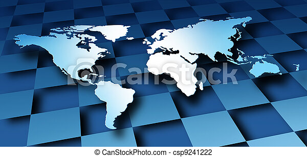 dimentional, verden, konstruktion, kort - csp9241222