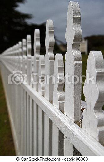 Dimishing Picket fence - csp3496360