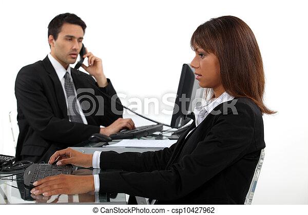 dinâmico, negócio, duo - csp10427962