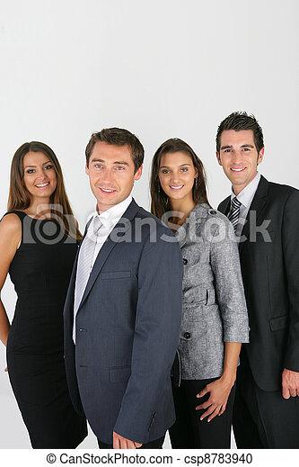 dinâmico, pessoas negócio - csp8783940
