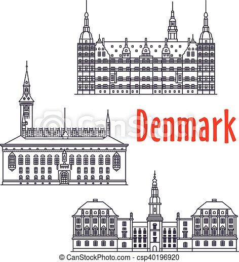 Visiones de viajes simbólicos de Dinamarca - csp40196920