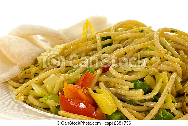 diner dish with noodles - csp12681756