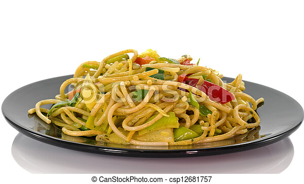 diner dish with noodles - csp12681757