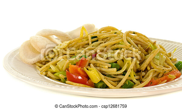 diner dish with noodles - csp12681759