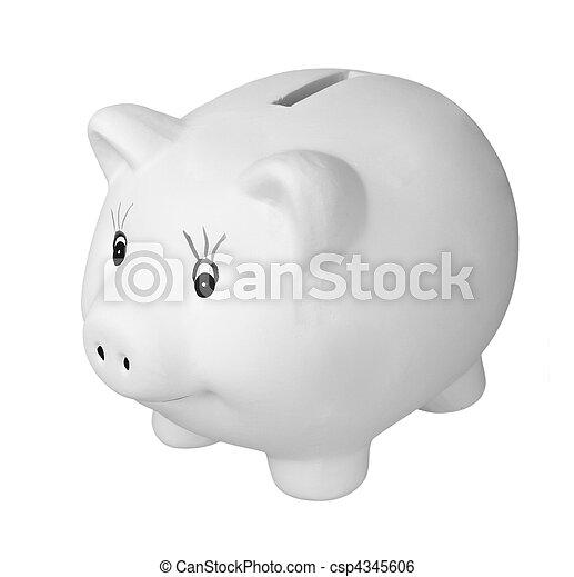 Bancos de Piggy, finanzas de ahorros - csp4345606