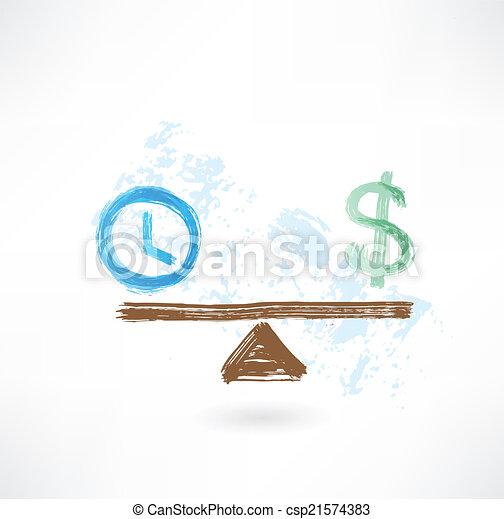 El balance del tiempo - csp21574383