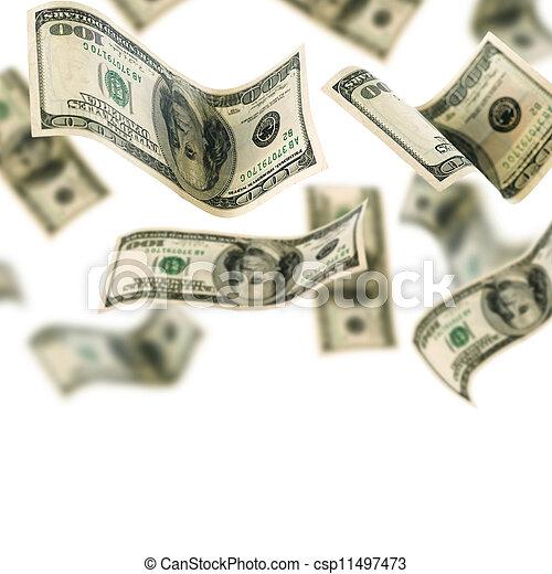 Cayendo dinero - csp11497473