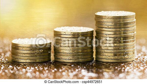 Monedas de dinero - csp44972651