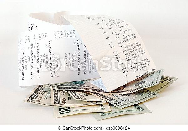 dinero, compras - csp0098124