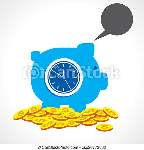 Ahorrando tiempo haciendo concepto de dinero - csp20773032