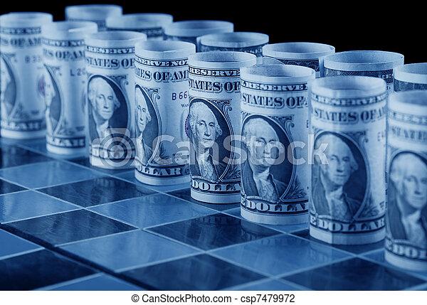 El concepto de estrategia monetaria - csp7479972