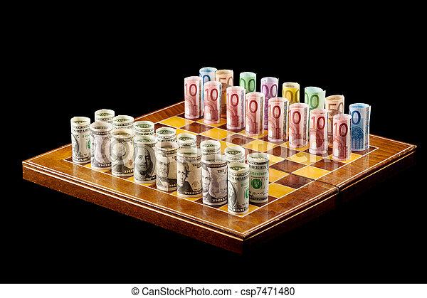 El concepto de juegos de dinero - csp7471480