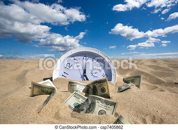 Perdí el tiempo y el concepto del dinero - csp7405862