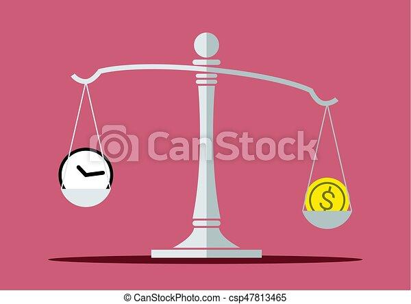Tiempo y dinero en escala de equilibrio - csp47813465