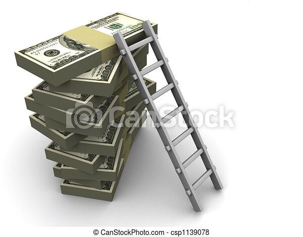 Escalera en dinero - csp1139078