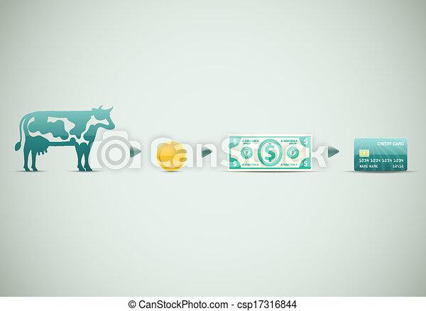 Evolución de dinero - csp17316844