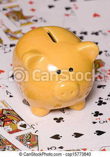 Apuesta para ahorrar dinero - csp15773840