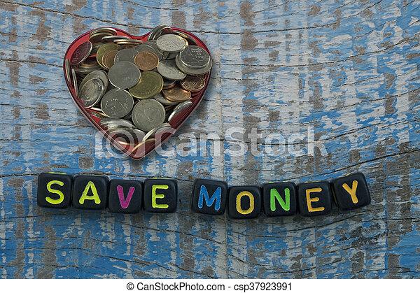 dinero, excepto, corta en dados, palabras - csp37923991