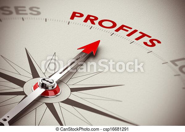 Ganar crecimiento, ganar dinero - csp16681291