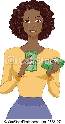 La chica del dinero - csp12563127