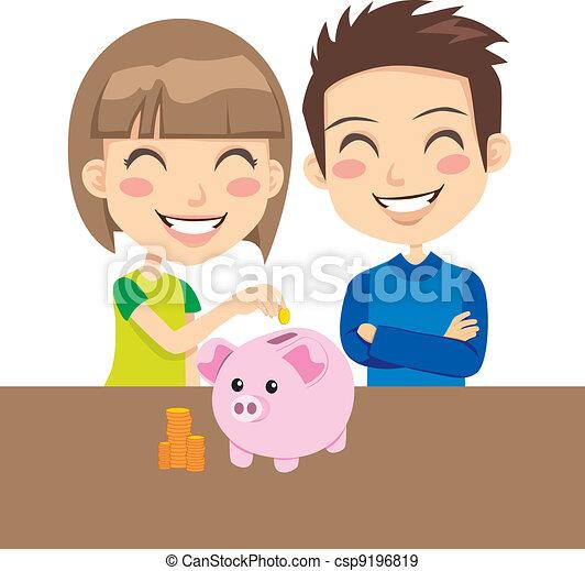 Los chicos ahorran dinero - csp9196819
