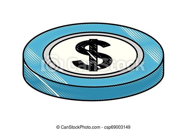 Una moneda de dólar americana - csp69003149