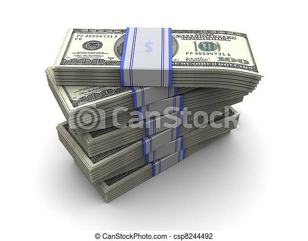 Una pila de dinero - csp8244492