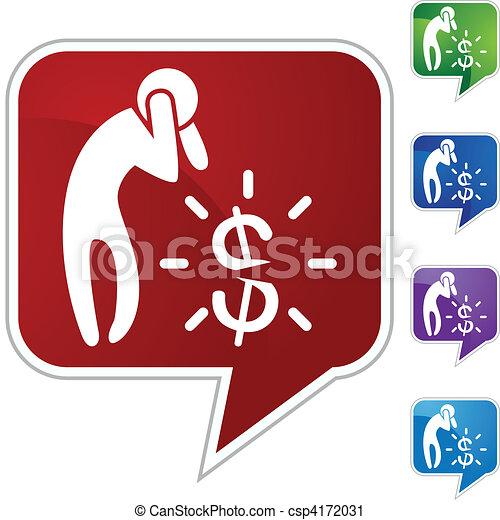 El dinero se preocupa - csp4172031