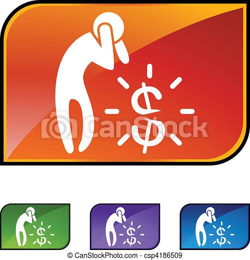 El dinero se preocupa - csp4186509