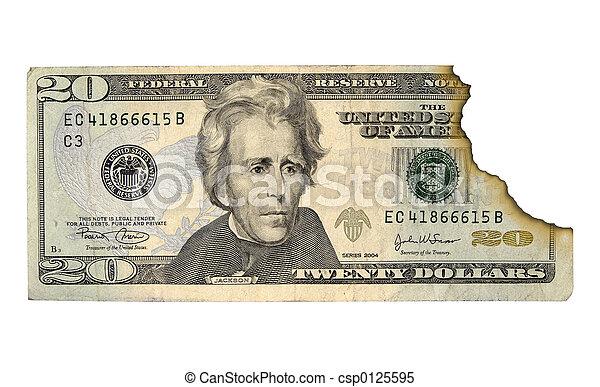 Dinero quemado - csp0125595