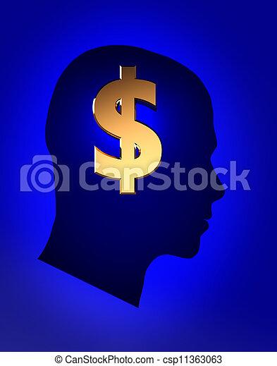 Piensa en el dinero - csp11363063