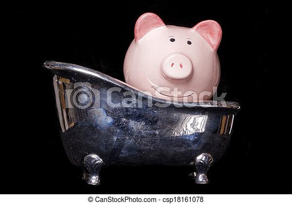 Sucio banco de dinero - csp18161078