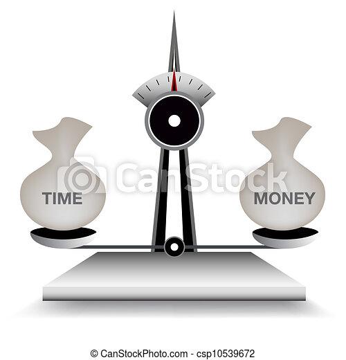 Balancing time and money - csp10539672