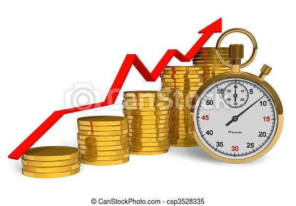 El tiempo es dinero - csp3528335