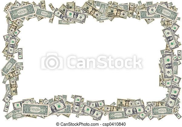 dinheiro, borda - csp0410840