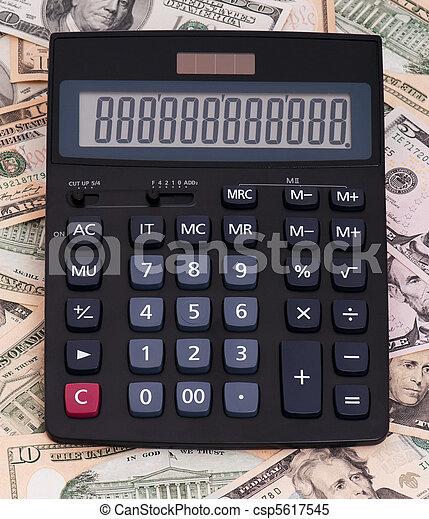 dinheiro, calculadora - csp5617545