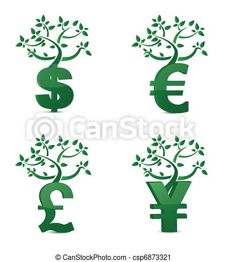 dinheiro, crescimento, árvore, ou, investimento - csp6873321