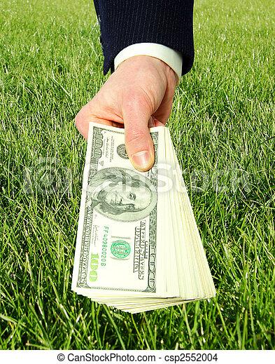 dinheiro, mãos - csp2552004
