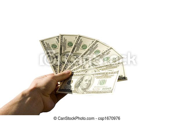 dinheiro, mãos - csp1670976