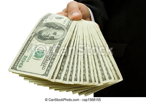 dinheiro, mãos - csp1568155
