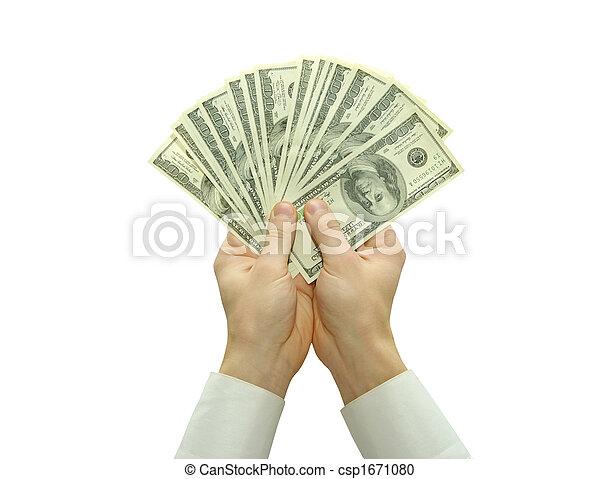 dinheiro, mãos - csp1671080