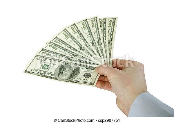 dinheiro, mãos - csp2987751