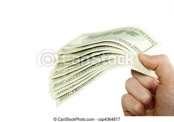 dinheiro, mãos - csp4364817