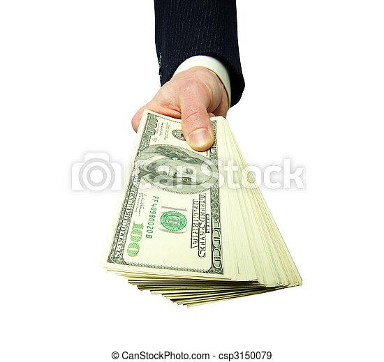 dinheiro, mãos - csp3150079
