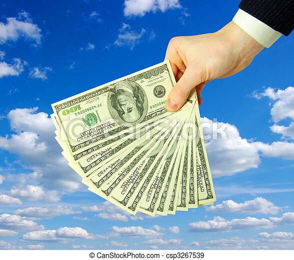 dinheiro, mãos - csp3267539