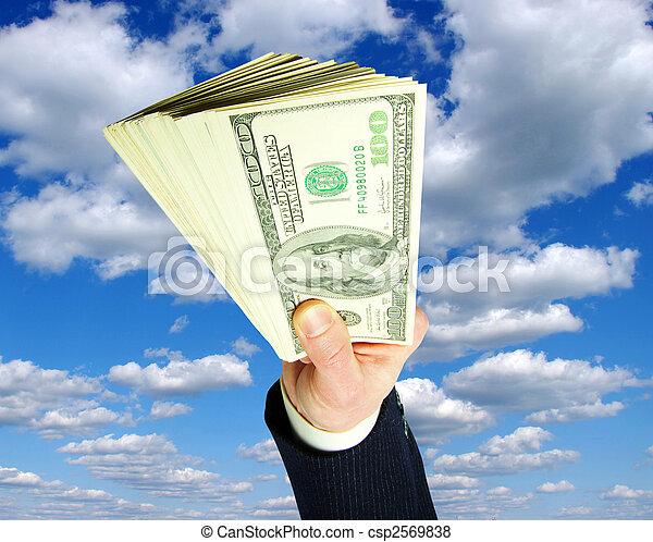 dinheiro, mãos - csp2569838
