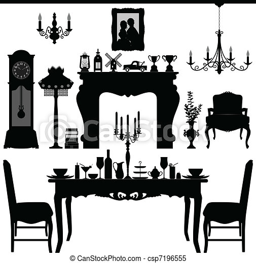 Dining Furniture Old Antique - csp7196555