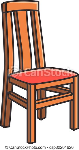Dining Room Chair Vector Cartoon